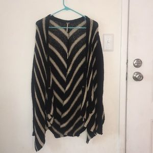 Free People knit striped cardigan